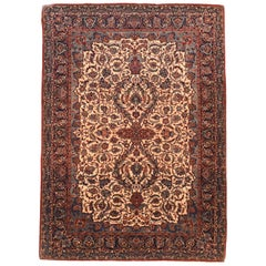 Extremly Fine Antique Persian Isfahan Rug, Hand Knotted, circa 1910