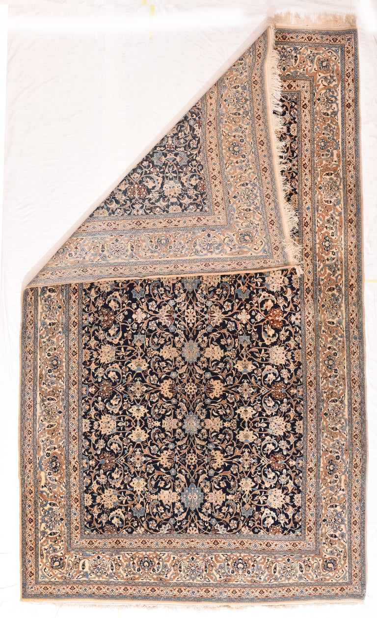 Other Fine Persian Naeen Area Rug For Sale