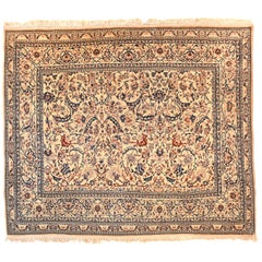 Extremly Fine Antique Persian Nain Rug, Hand Knotted, circa 1920