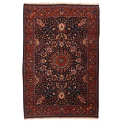 Extremely Fine Antique Red Bidjar Persian Rug, Hand Knotted, circa 1900