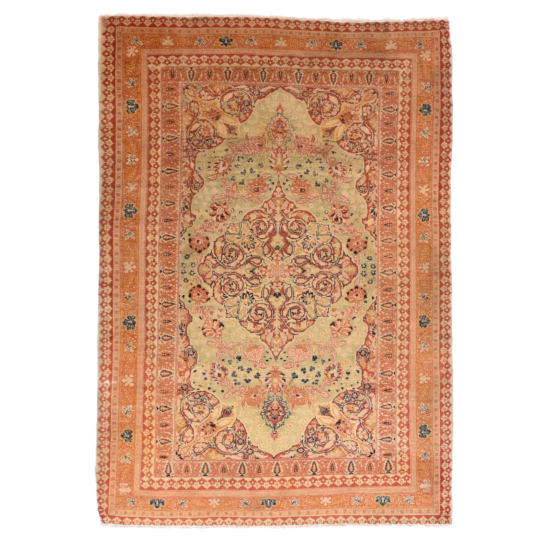 Extremly Fine Antique Tabriz Haji Jalili Persian Rug, Hand Knotted, circa 1890