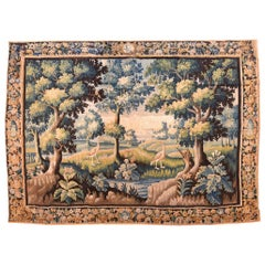 Extremely Fine Pictorial French Tapestry 'Land Mark', Hand Knotted