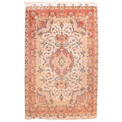 Extremly Fine Vintage Persian Tabriz Rug, Hand Knotted, circa 1970s
