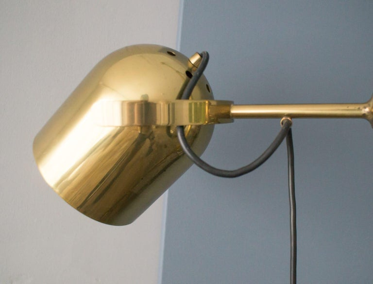 Extremly Rare Brass Tension Lamp from Florian Schulz, Model S 100 For Sale 4