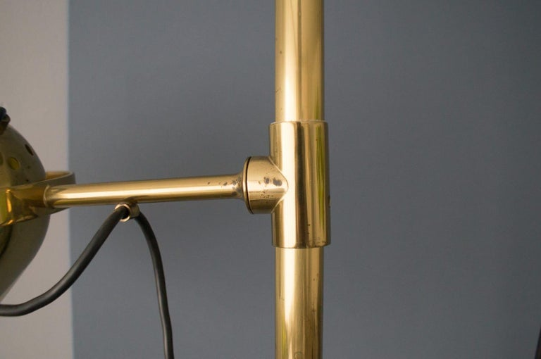 Extremly Rare Brass Tension Lamp from Florian Schulz, Model S 100 For Sale 5