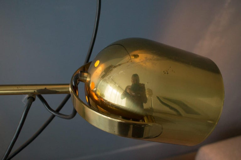 Extremly Rare Brass Tension Lamp from Florian Schulz, Model S 100 For Sale 6