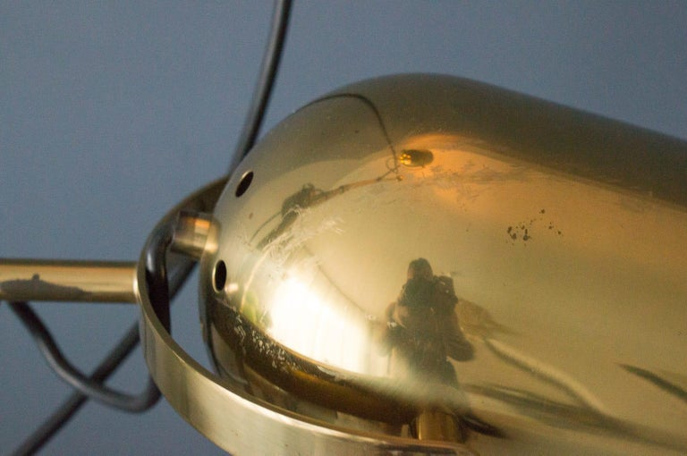 Extremly Rare Brass Tension Lamp from Florian Schulz, Model S 100 For Sale 7