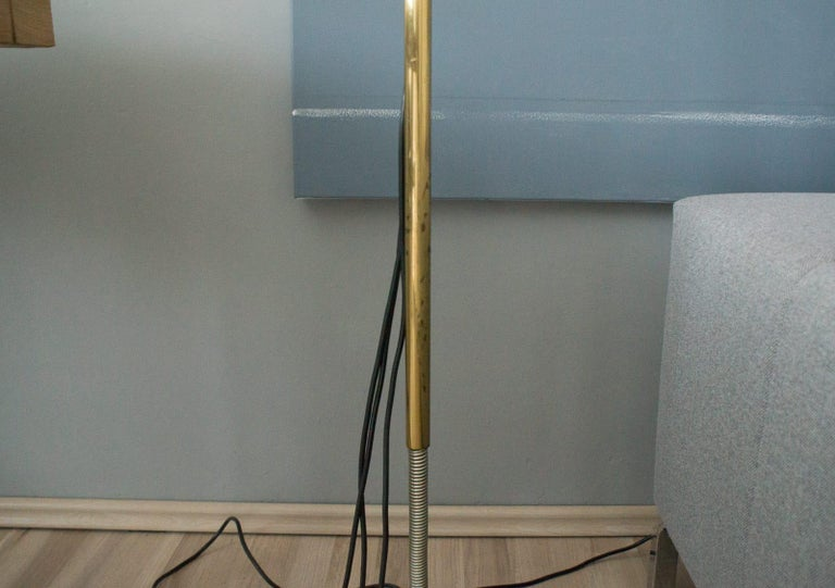 Extremly Rare Brass Tension Lamp from Florian Schulz, Model S 100 For Sale 8