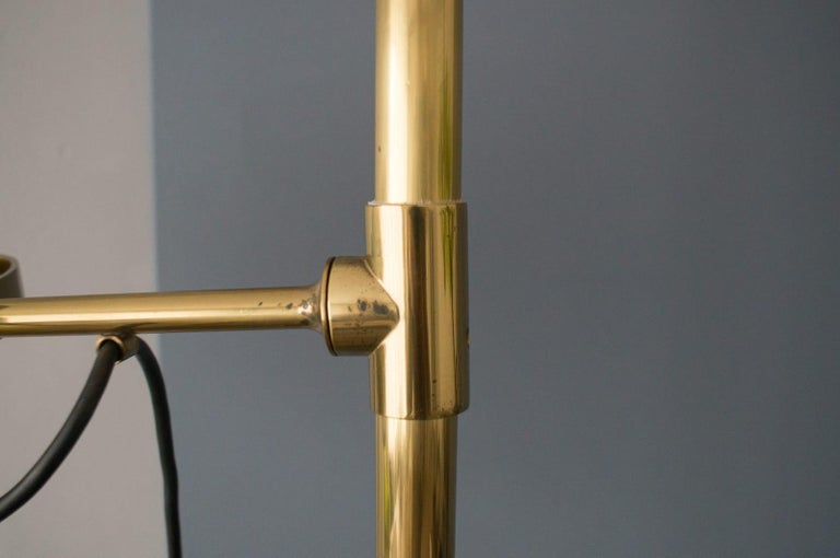Extremly Rare Brass Tension Lamp from Florian Schulz, Model S 100 For Sale 11