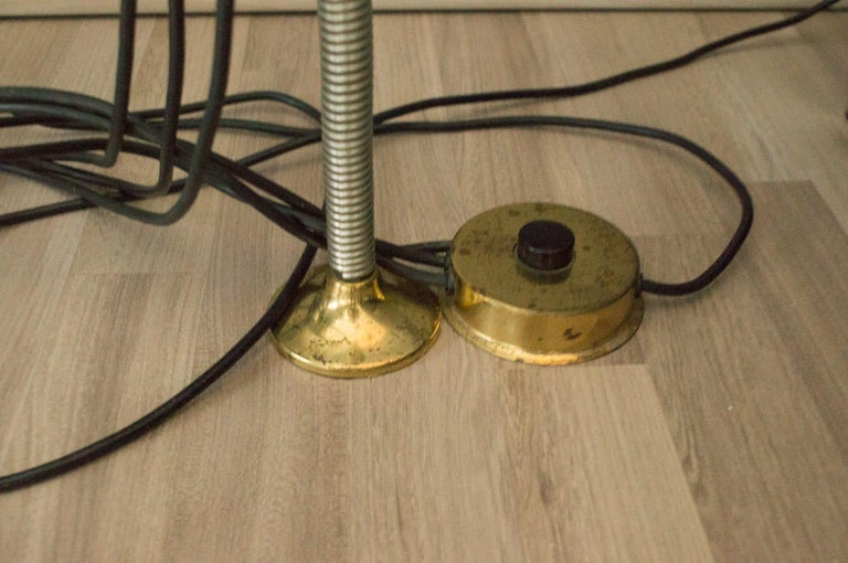 Extremly Rare Brass Tension Lamp from Florian Schulz, Model S 100 For Sale 13
