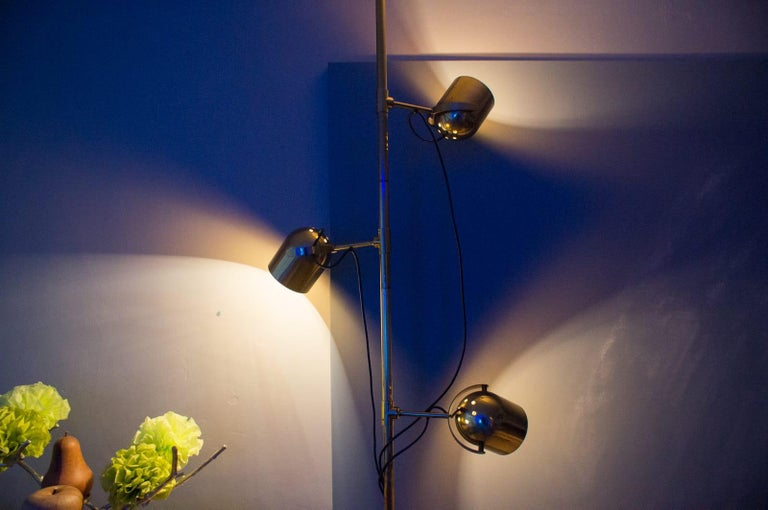 Mid-Century Modern Extremly Rare Brass Tension Lamp from Florian Schulz, Model S 100 For Sale