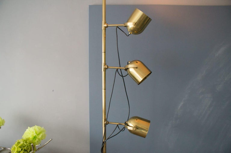 German Extremly Rare Brass Tension Lamp from Florian Schulz, Model S 100 For Sale