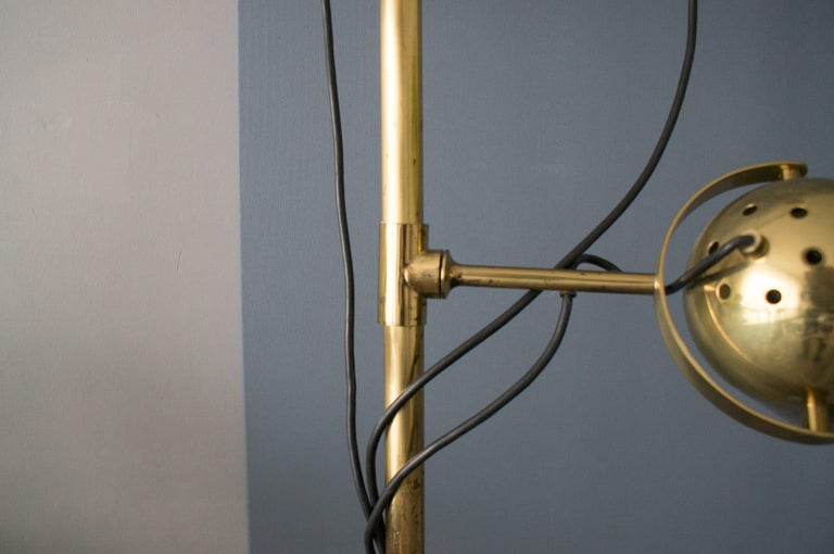 Extremly Rare Brass Tension Lamp from Florian Schulz, Model S 100 For Sale 2
