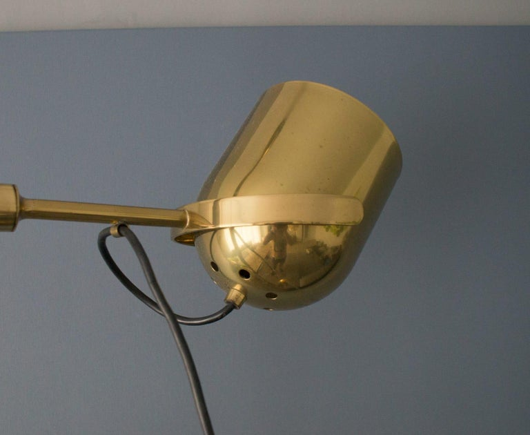 Extremly Rare Brass Tension Lamp from Florian Schulz, Model S 100 For Sale 3