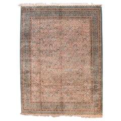 Extrremly Fine Vintage Turkish Herekeh Rug, Silk on Silk, circa 20th Century