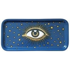Eye Birchwood Serving Tray Blue