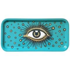 Eye Birchwood Serving Tray Turquoise