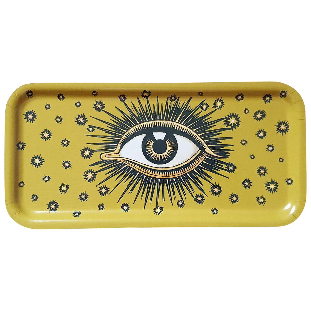 Eye Birchwood Serving Tray Yellow
