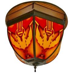 Period Ceiling Lamp: Amsterdam School, c.1925