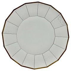 Eye-Catching Mid-Century Modern Scalloped Round Mirror