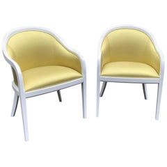 Eye-Catching Pair of Sunny Club Chairs