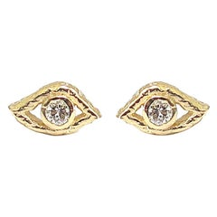 Jacqueline Rose Eye Diamond Stud Earrings
