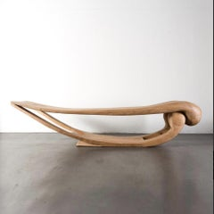 Eye Long Daybed in Albizia Wood by Mauro Mori