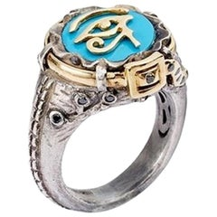 Eye of Horus Turquoise Jean Ring