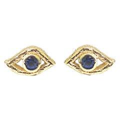 Jacqueline Rose Eye Sapphire Stud Earrings