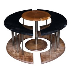 Eye Trio Set of Three Tables with Black Marble