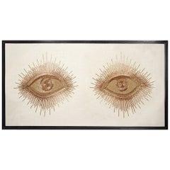 Eyes Hand-Beaded Wall Art