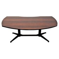 """F. Albini & F. Helg for Poggi, 1958 Italy Modern Wood Desk Table """"T22"""" Model100"""