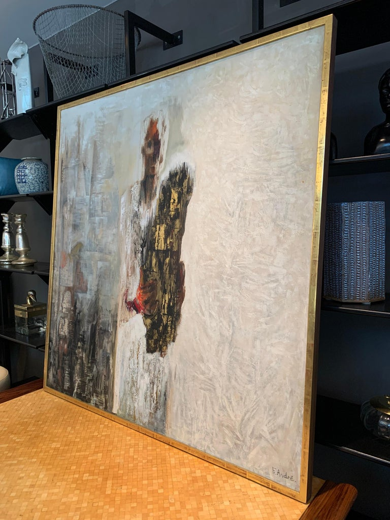 F. Andre Vintage Original Abstract In Good Condition For Sale In East Hampton, NY