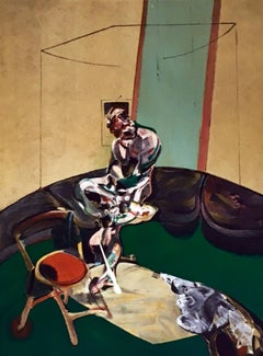 Francis Bacon Derriere Le Miroir lithograph (portrait of George Dyer sitting)