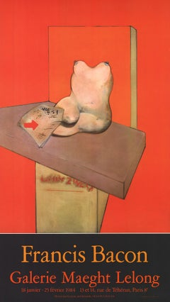 "Francis Bacon-Galerie Maeght Lelong 1984-31.5"" x 18""-Poster-1984-Expressionism"