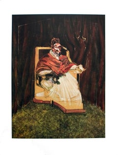 "Francis Bacon-Portrait of Pope Innocent XII-35.5"" x 25.5""-Poster-1995"