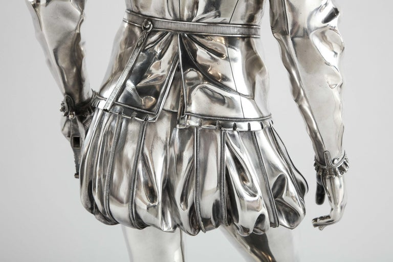 F. Barbedienne, a Life-Size Silvered Bronze of King Henri IV Enfant as a Child For Sale 9