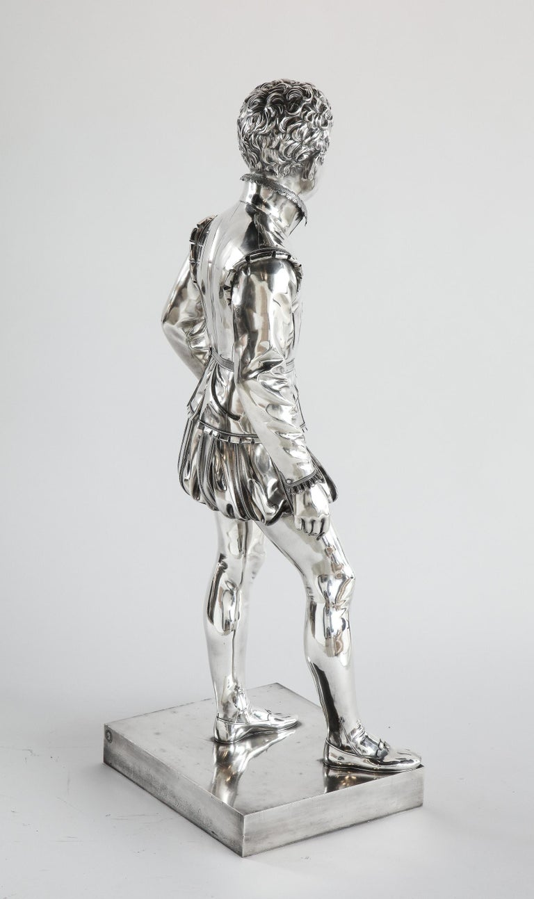 F. Barbedienne, a Life-Size Silvered Bronze of King Henri IV Enfant as a Child For Sale 10