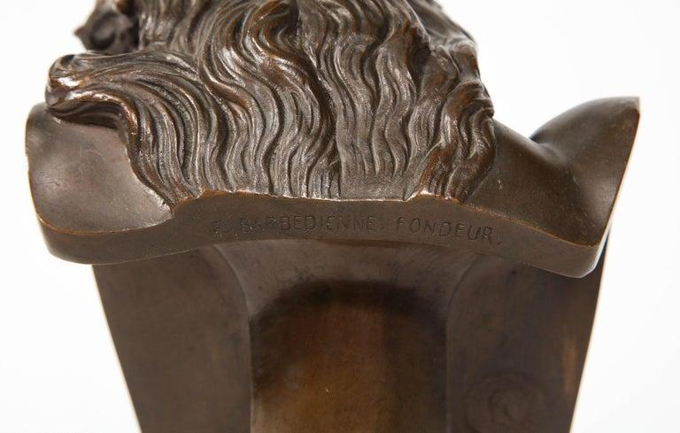 Jean-Baptiste Auguste Clesinger, French Bronze Bust of Jesus Christ, Barbedienne 7