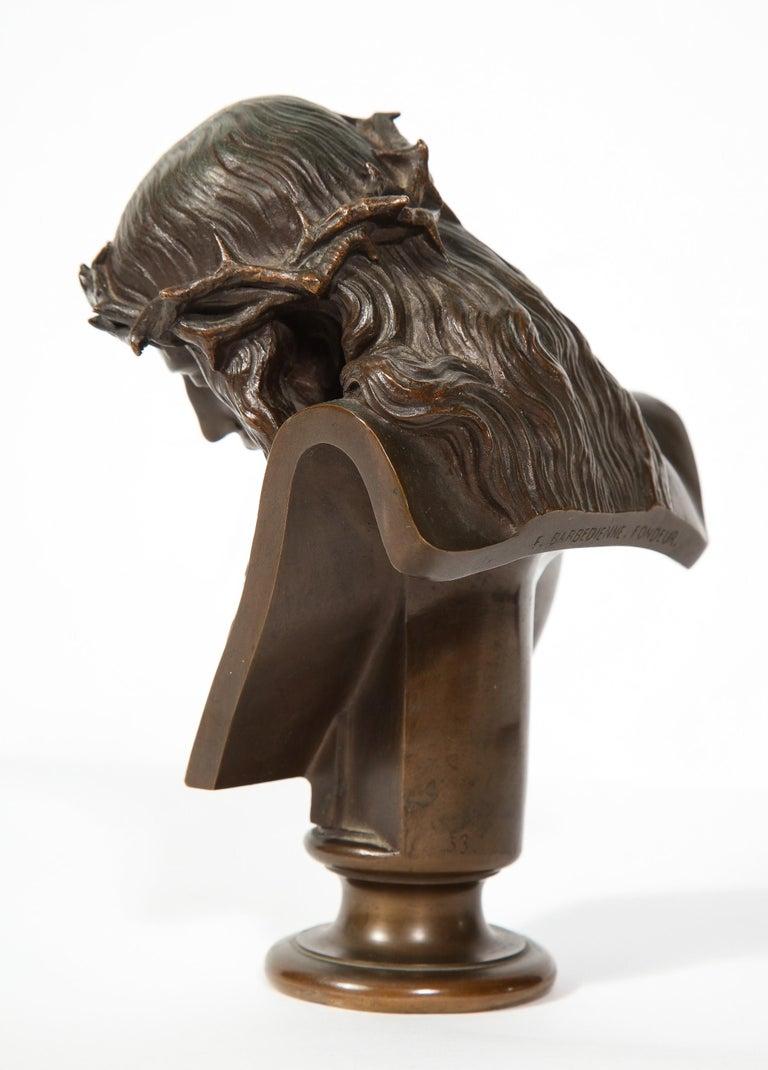 Jean-Baptiste Auguste Clesinger, French Bronze Bust of Jesus Christ, Barbedienne 8