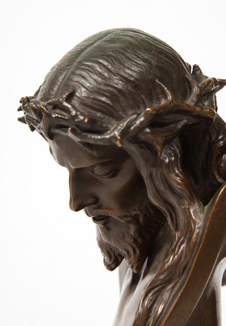 Jean-Baptiste Auguste Clesinger, French Bronze Bust of Jesus Christ, Barbedienne 10