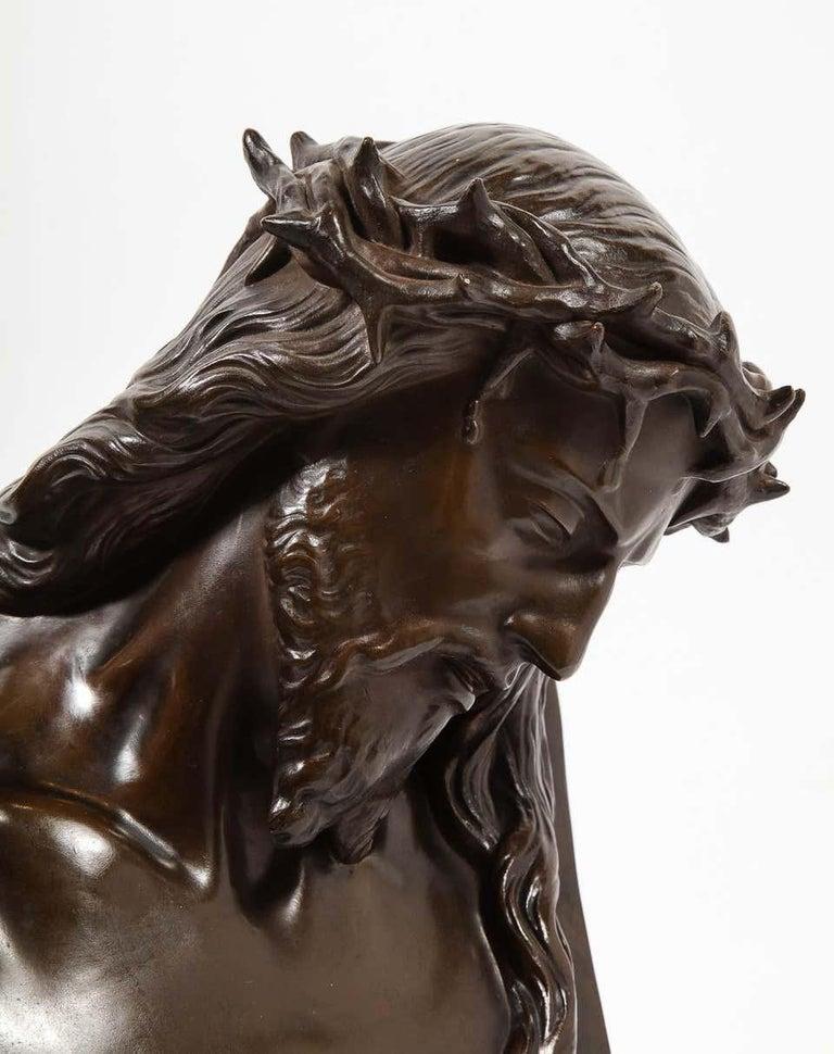 Jean-Baptiste Auguste Clesinger, French Bronze Bust of Jesus Christ, Barbedienne For Sale 10