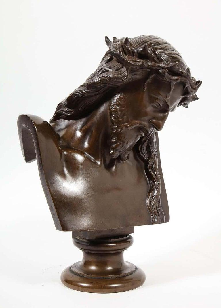 Jean-Baptiste Auguste Clesinger, French Bronze Bust of Jesus Christ, Barbedienne For Sale 11