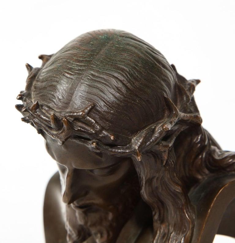 Jean-Baptiste Auguste Clesinger, French Bronze Bust of Jesus Christ, Barbedienne 12