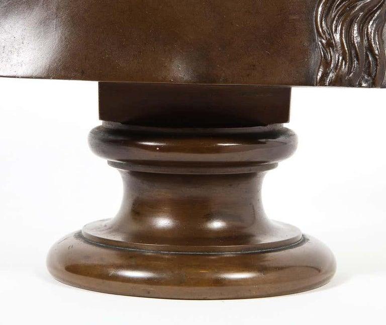 Jean-Baptiste Auguste Clesinger, French Bronze Bust of Jesus Christ, Barbedienne For Sale 1