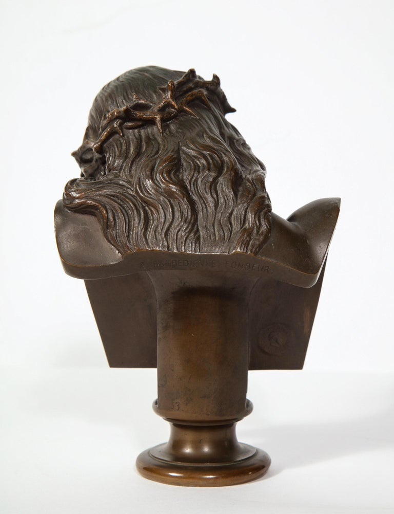 Jean-Baptiste Auguste Clesinger, French Bronze Bust of Jesus Christ, Barbedienne 5