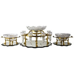 F & C Osler Ormolu Centrepiece Epergne Mounted Table Garniture, Mid-19th Century