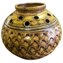 F. Carlton Ball Mid-Century Modern Signed Ceramic Pottery Glazed Studio Vase