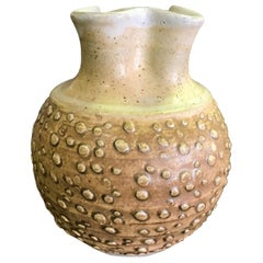 F. Carlton Ball Midcentury Signed Ceramic Pottery Glazed Studio Pinched Vase