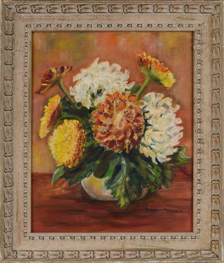 F. Christensen Still-Life Painting - Mid Century Floral Still-Life